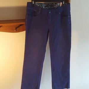 Prana Pants - prAna Blue Twilight Cord Short Inseam Womens Pant